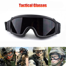 Hot Sale Tactical Paintball Airsoft Safety Ballistic Goggles Motorcycle Windproof Army Wargame Military Glasses With 3 Lenses