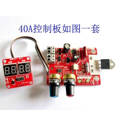 NY-D01 NY D01 40A maszyna do zgrzewania punktowego panel sterowania, regulacja czasu i prądu, wyświetlacz cyfrowy