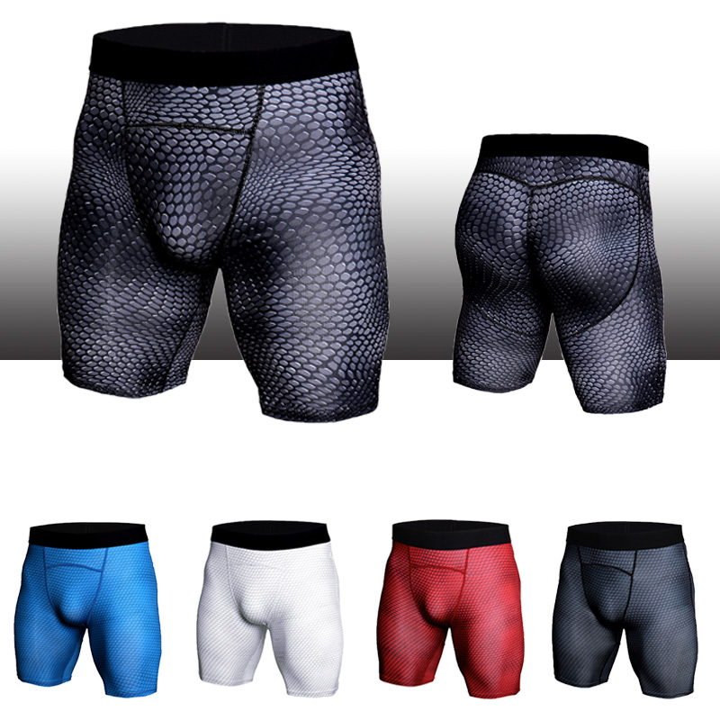 2019 Compression Shorts Men Active Tights Skinny Fitness Shorts Joggers Short Pants Men Elastic Sweatpants Bodybuilding Shorts