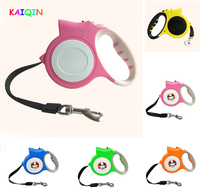 High Quality Automatic Retractable Dog Leash LED Light Flashlight With Strap Pet Accessory 4 5m