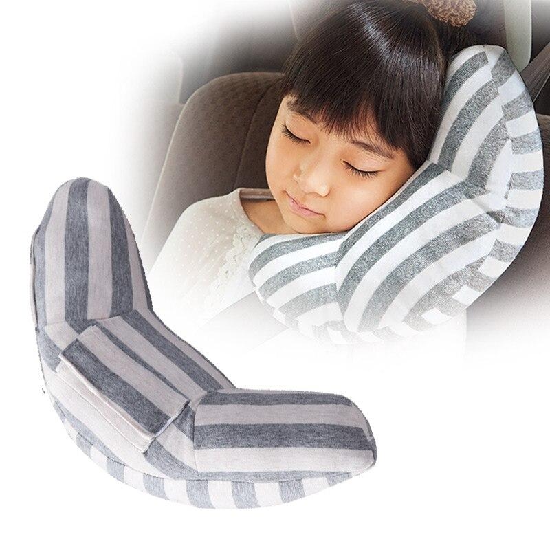 1 Piece New Style Children Neck Headrest Seat Belt Shoulder Pads Removable Car Comfortable Sleep Pillow Cushion Head Support