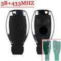 3 Botões Chave Remota Com 433 MHZ Chip NEC Para Mercdec Para Benz Chave Chave Nec BGA 2000 +