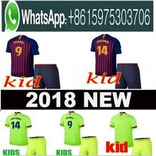 a32e158aaf5 Top 2018 MESZ Kids Jersey soccer 2019 Barcelona Camisas Dembele Messi  INIESTA INIESTE football shirt 18 19 kids KitS +sock SUARE