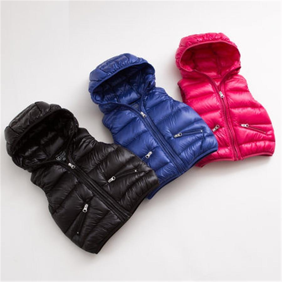 Vest Kids 2016 Autumn Winter Boys Light Warm Outerwear Children Jacket Luxury Soft Children Winter Vest And Jacket 70F1516