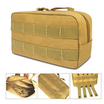 Molle 전술 가방 배낭 & 조끼 파우치 허리 방수 사냥 캠핑 팩 키트 스포츠 캐리어 핸드폰 홀더 군사