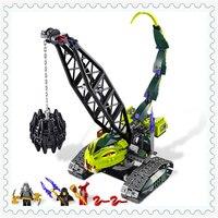 414 Pcs Ninja Fangpyre Wrecking Ball Modelo Iluminai Building Block Brinquedos 9761 Presente Para Crianças Compatível Legoe