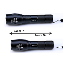 8000 Lumens CREE XML L2 LED Camping Flashlight Tactical Torch 5 Modes Lamp Led Light Lanterna +DC/Car Charger+1*18650+Holster