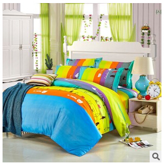 Home textile,Reactive Print bedding sets luxury include Duvet Cover Bed sheet Pillowcase,King Queen Full size, - Natali Colthes Co.,LTD store