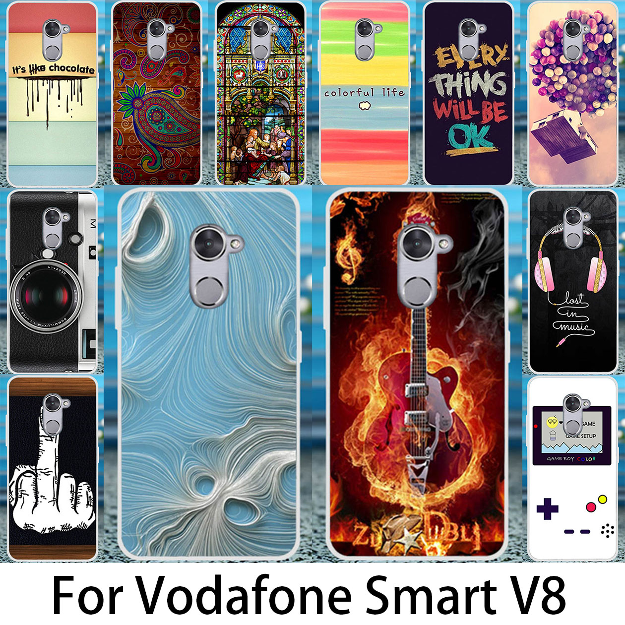 promo code 214d8 2bdfe US $1.58 20% OFF|Akabeila DIY Painted Case Cover For Vodafone Smart V8  VFD710 VFD 710 VFD 710 Phone Covers Silicone Back Housing-in Fitted Cases  from ...