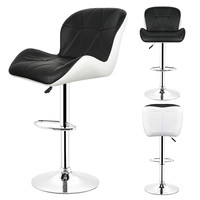 DOORSACCERY Modern Black Bar Stools Chairs Lift Home FREE SHIPPING