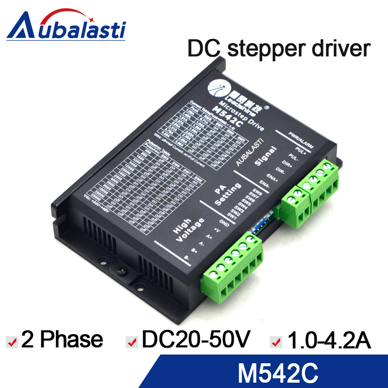2 phase stepper motor driver leadshine m542 DC20-50V 4.2A motor driver stepper driver use for cnc engraver and cutting machine 2 phase bus digital stepper motor driver ykd2608pc 6a dc24 80v motor driver stepper driver for cnc engraver and cutting machine