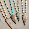 N15103110  Rosary Chain Beads Necklace  Arrowhead Pendant Necklace