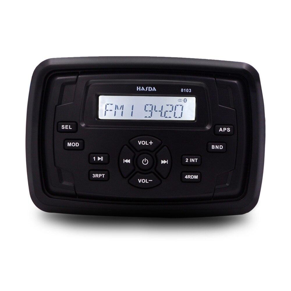 HASDA étanche Marine Radio audio bateau Audio moto récepteur RV voiture Bluetooth système de son FM AM USB carré lecteur MP3