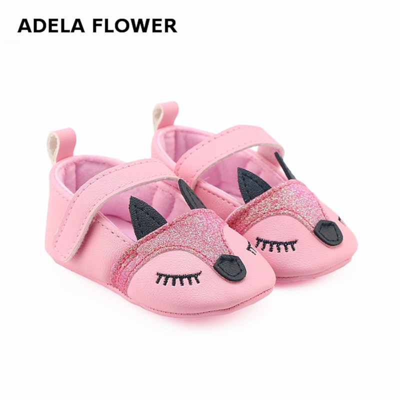 Fox PU Leather Baby Moccasins Anti Slip Princess Baby Girl Shoes Cartoon Infant Girl Toddler Shoes sapatos infantil zapatos nina
