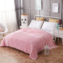 pink bedspread blanket 200x230cm High Density Super Soft Flannel Blanket to on for the sofa/Bed/Car Portable Plaids(China)