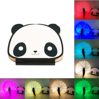 Novelty Book Light USB Rechargeable RGB LED Wooden Folding Mini Book Shape Light Bedroom Night Lamp