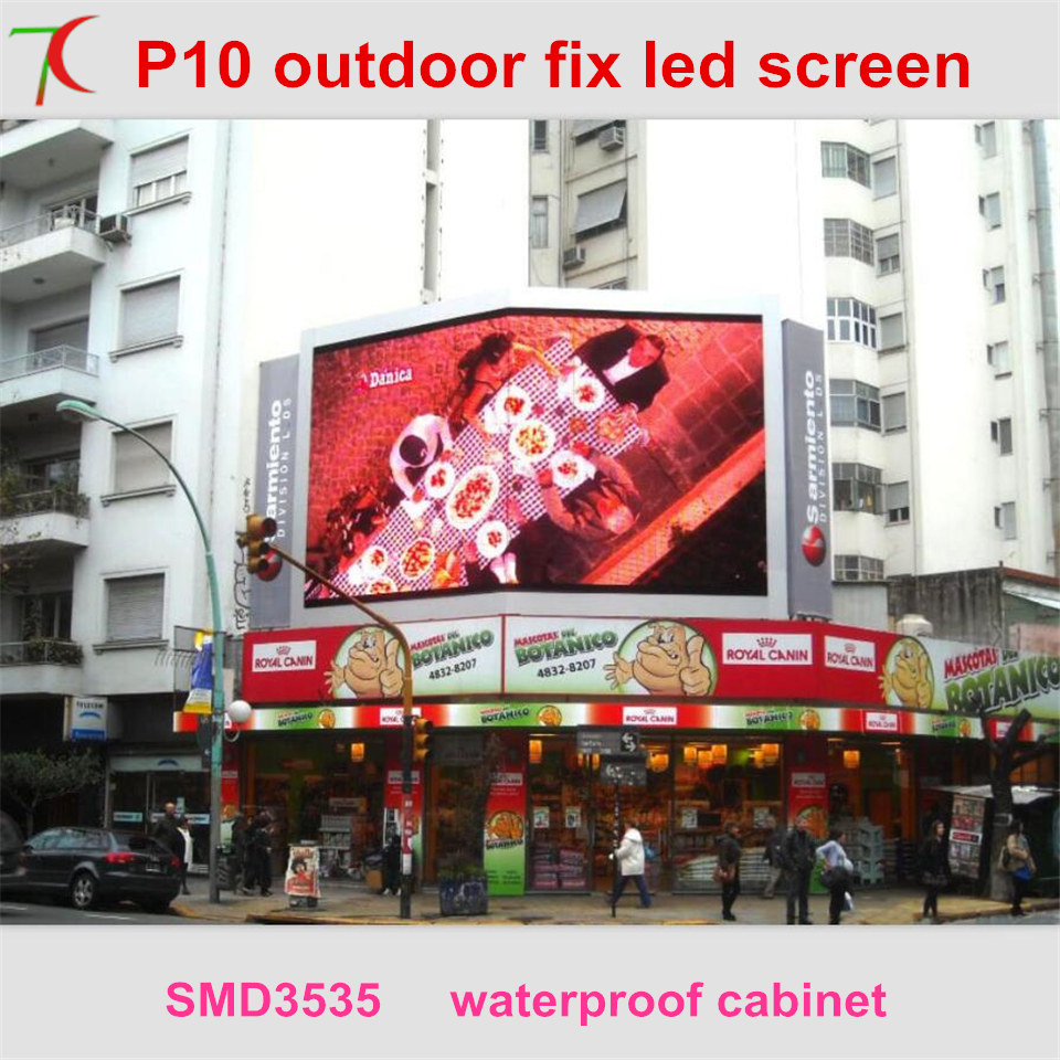 P10 Outdoor Convenient Installation Smd Waterproof Cabinet Led Display Screen,6000cd/sqm,smd3535