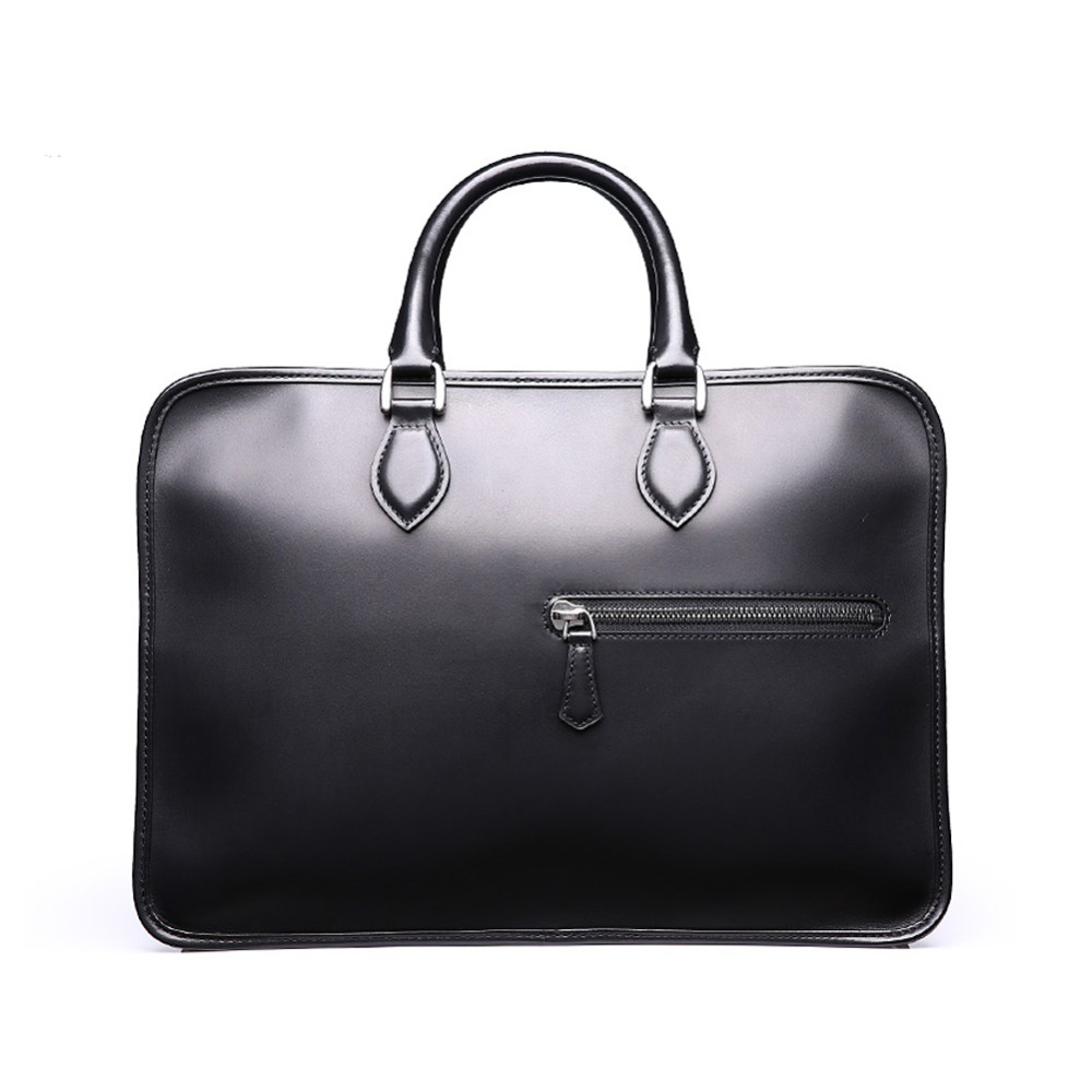 TERSE Large capacity briefcase handmade leather bag Italian calfskin tote  bag burgundy  tobacco  iron grey briefcase custom logo-in Briefcases from  Luggage ... 772fc55686dcc