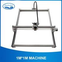 15 Вт Лазерный большой мощности металла гравер, лазерный станок для резки металла, 1*1 м, большой размер работы машина для лазерной гравировки,