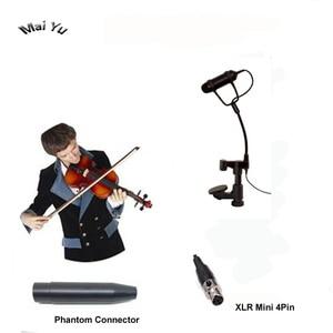 Image 1 - プロ Lapela 楽器バイオリンマイクマンドリンビオラ Microfone Shure のワイヤレストランスミッター Xlr ミニ 4Pin ファントム