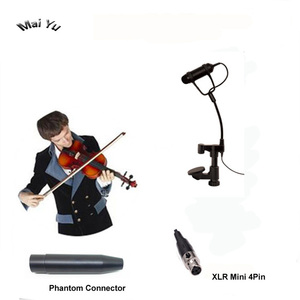 Image 1 - Profissional instrumento de violino lapela microfone mandolin viola microfone para shure transmissor sem fio xlr mini 4pin fantasma