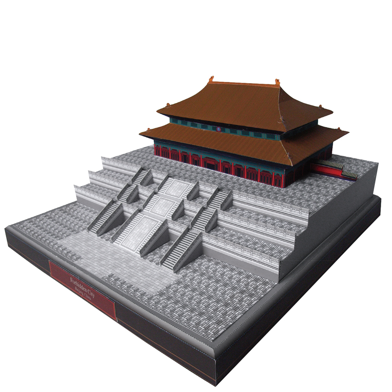 DIY Forbidden City, China Craft Paper Model 3D Architectural Building DIY Education Toys Handmade Adult Puzzle Game