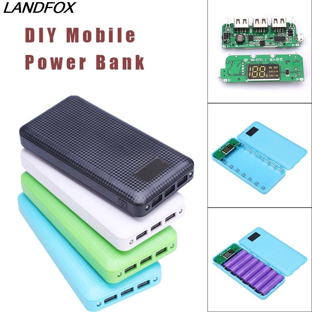 LANDFOX NEW Big promotion Portable 5V 2.1A 3 USB 7X 18650 ...