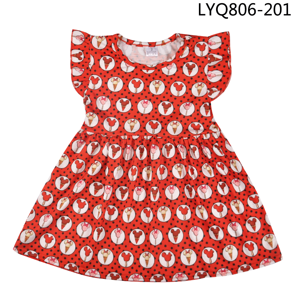 Hot Sale Toddler Girl Clothes Cartoon Animal Back To School Girl Clothing Party Dresses Children Clothes Factory Wholesale