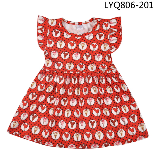 3e98e708407 US $5.94 15% OFF|Hot Sale Toddler Girl Clothes Cartoon Animal Back To  School Girl Clothing Party Dresses Children Clothes Factory Wholesale -in  ...