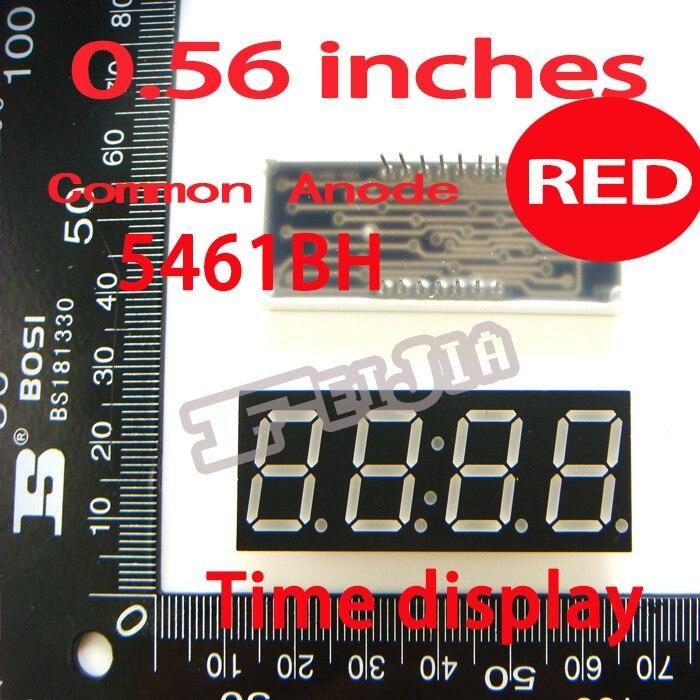 10 шт./лот 0.56 дюйм(ов) Красный общий анод 4 Цифровой пробки f5461bs Булавки Светодиодные ленты Бесплатная доставка