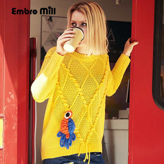 Royal bordado de flores suéter del otoño mujeres suéteres y ...