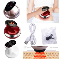 USB Recharge Electric Vacuum Cupping Body Massager Suction Scraping Magnetic Wave Physiotherapy Clearing Damp Therapy #289371