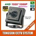 NOVA Full HD 3MP Videovigilância 3.7mm Lente Pinhole Segurança Alta Resolução IMX322 AHD 1920 P Micro Pequeno Mini Câmera de CCTV