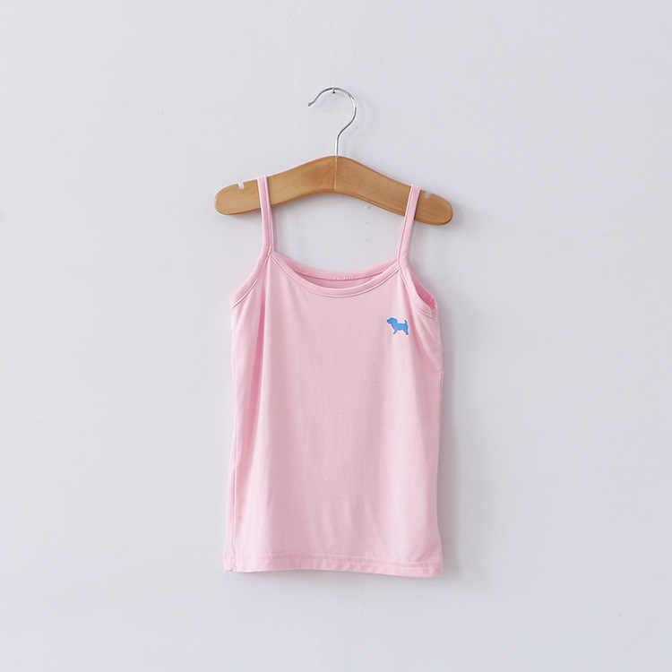 אופנה קיץ בגדי ילדים גור קריקטורה בנות גופייה סוכריות צבעוני בנות אפוד ילדי גופיית חולצות תינוק אפוד