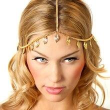 Новая пляжная богемная позолоченная цепочка на голову украшения
