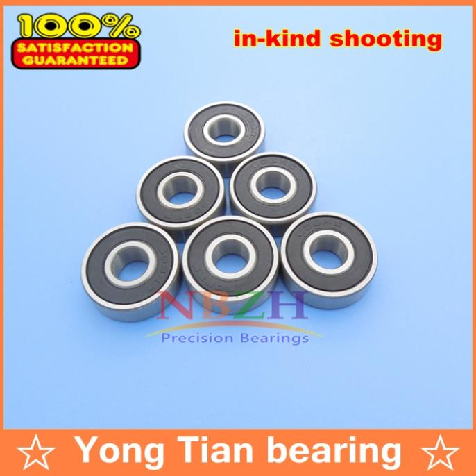 50pcs Free shipping roller skate inline skates Skate shoes Ball bearings 608-2RS  8X22X7 mm 608RS ABEC-5