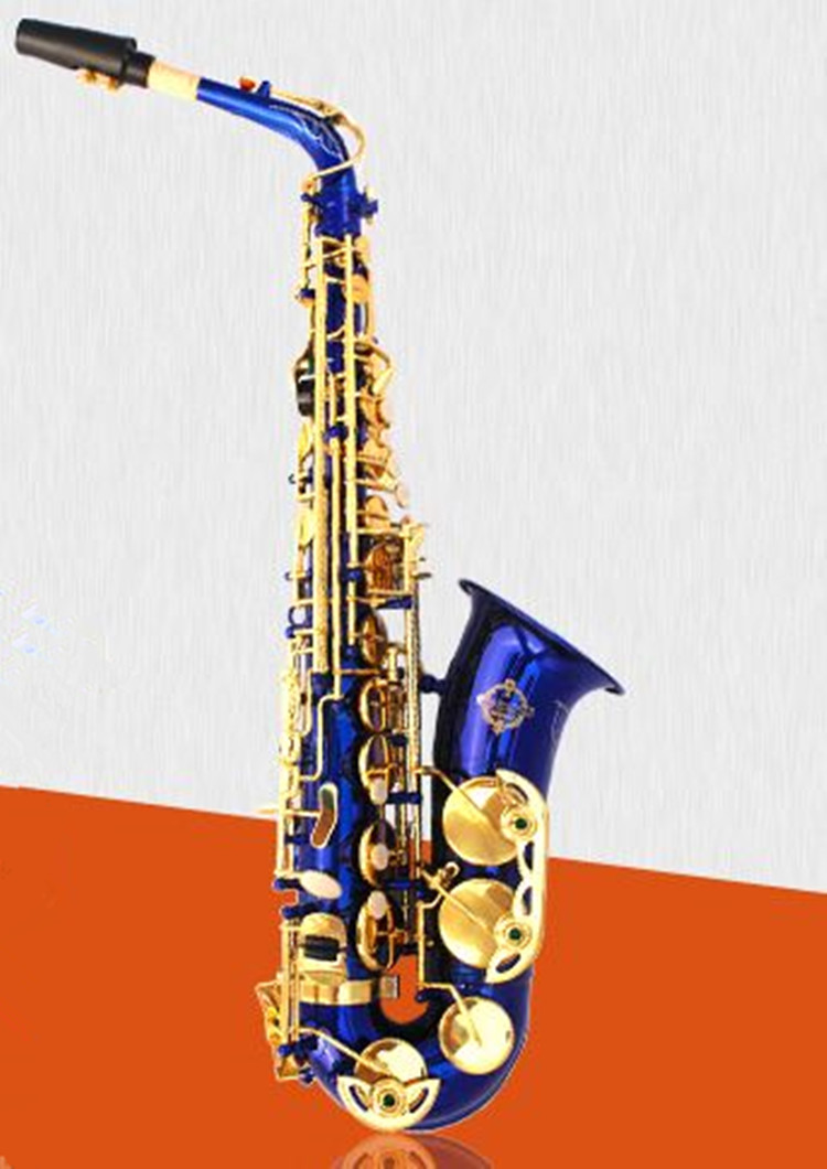 New SUZUKI Alto Saxophone Musical instrument E tune S-1000 Brass Professional Alto Sax blue Gold Lacquer free shipping blue gold lacquer falling tune eb alto sax instruments alto saxhorn professional performance brass f saxophone bag sax cover