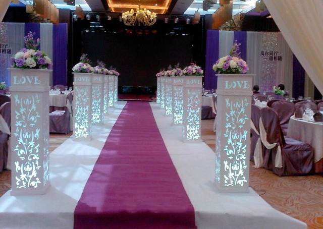 4pcs Lot Love Wedding Plastic Column White Wedding Pillars