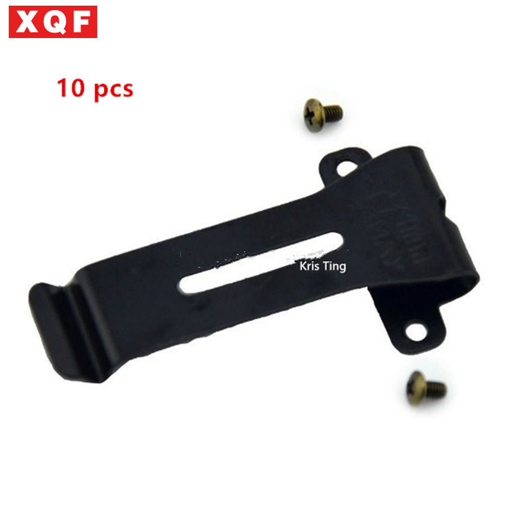 XQF 10 PCS Replacement Belt Clip Clamp Clinch Hook Bracket for Baofeng Two Way Radio BF-666S BF-777S BF-888S UV-5R free shipping