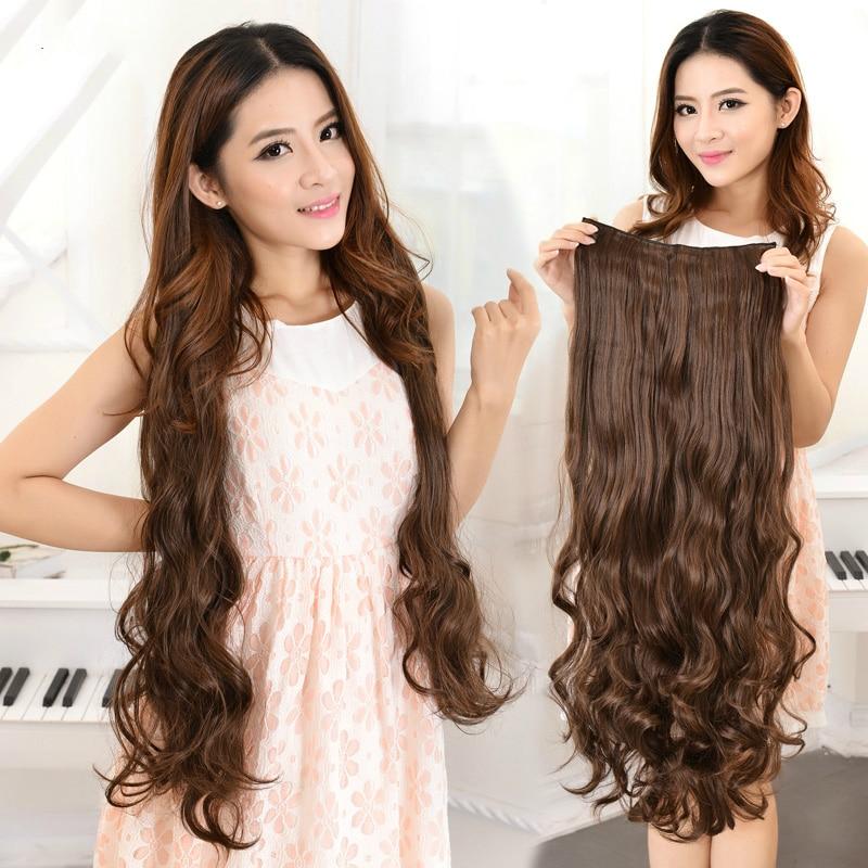 100cm 75cm 60cm 45cm Long Clips In One Piece Hair