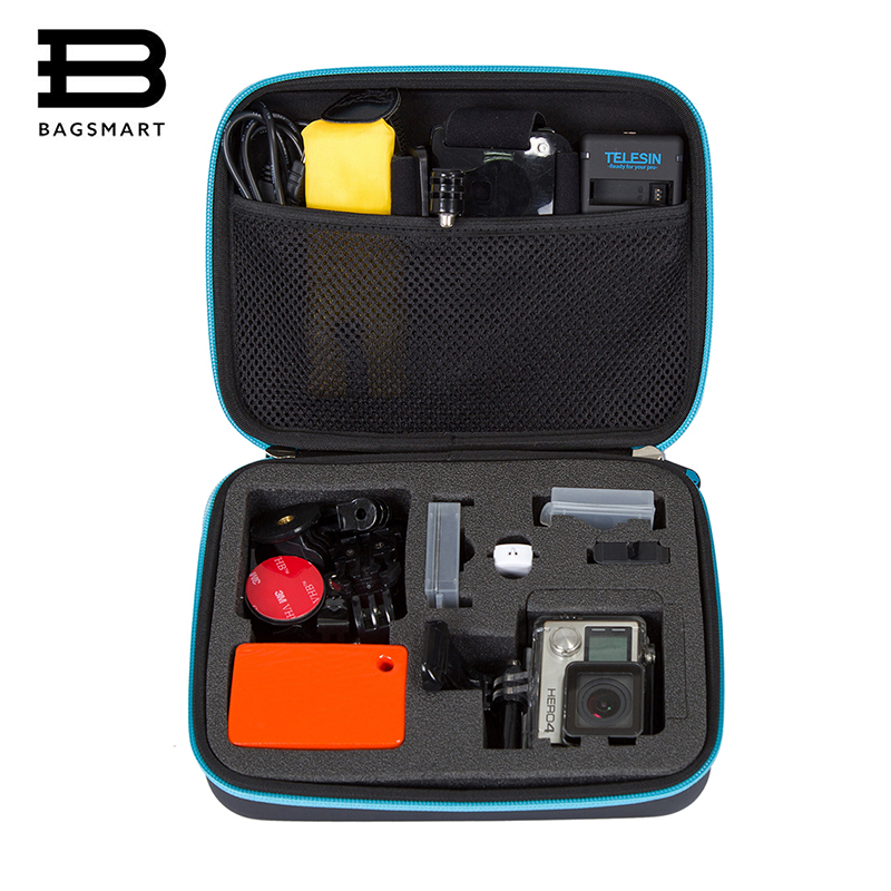 BAGSMART Gopro Accessories Protective Case Kit for GoPro Hero 4/3/2/1 Waterproof Accessories Camera Collection Box 45m waterproof case mount protective housing cover for gopro hero 5 black edition