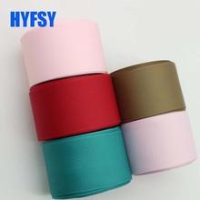 Hyfsy 10021 мм 38 мм однотонные ленты 10 ярдов DIY материалы ручной работы подарочная упаковка Двусторонняя Grosgrain ленты