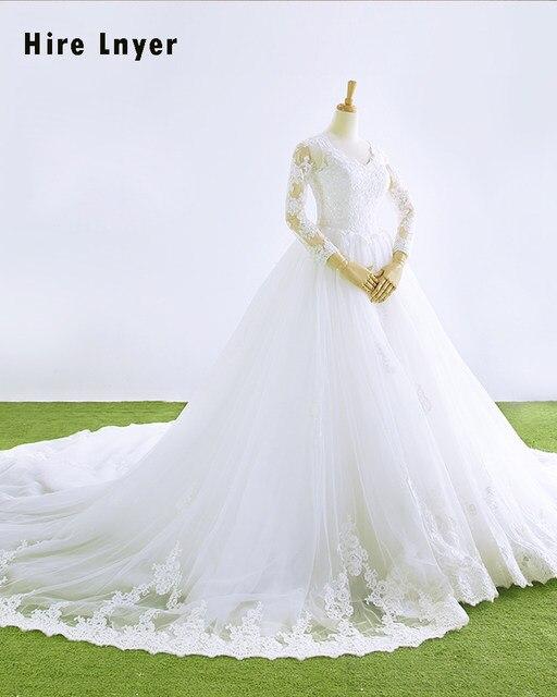 Online Shop Najowpjg Custom Made Vestido Novia High Neck Long Sleeve ... 42cf6f2496c0