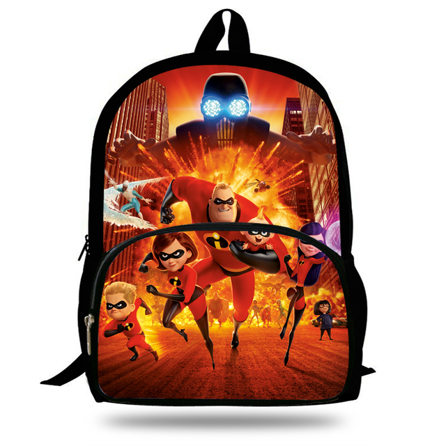 3881e7ef8355 16inch Cut Superman Cartoon Bookbags Girls School bags The incredibles Backpack  Boys Trave Bag Gift Children Teenagers