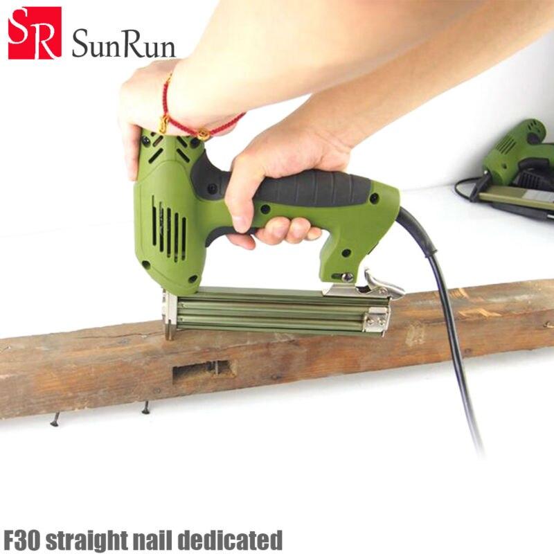 F30 Straight nail dedicated 1800W 220 240V 30pcs/min F30 Electric Nailer Gun Electric Stapler Straight Nail Gun Tool for Wood