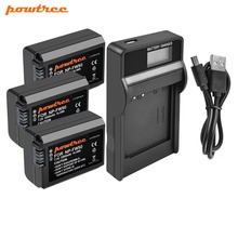Powtree For Sony 3PCS 7.2V 2000mAh NP-FW50 NPFW50 NP FW50 Camera Battery +  LCD Charger NEX-C3 Alpha a7 a7R a7S a7II SLT-A37