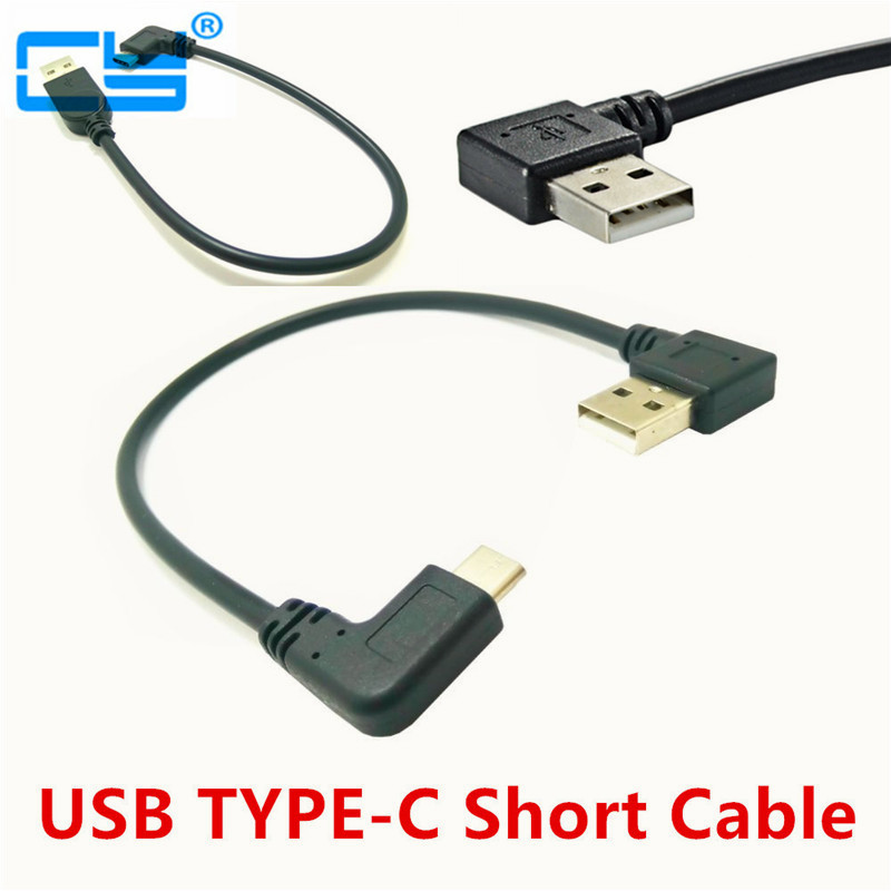USB 2.0 Type-A 90 Degree Left & Right Angle Male to USB3.1 Type-C Male Left & Right Angle USB Data Sync & Charge Cable Connector usb 2 0 male left angle 90 degree to micro usb male left angle 90 degree data charging cable for samsung s6 s7 note5 20cm 100cm