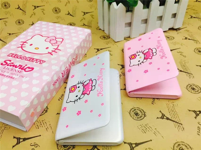 Olá kitty banco do poder 8800 mah make up espelho power bank carregador de bateria para iphone 6 6 s samsung s5 s6