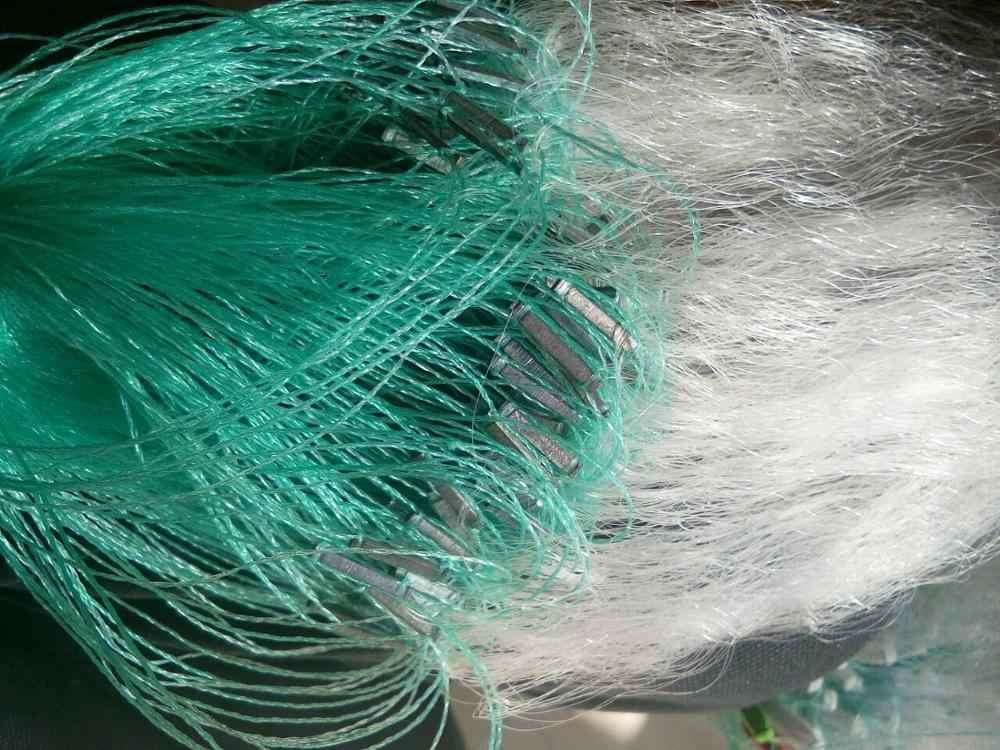 Clear Green Witte Visnet met Float Vis Val Monofilament Kleine Mesh Gill Nylon Vis Netto Accessoire 1PC 30M x 1.2M