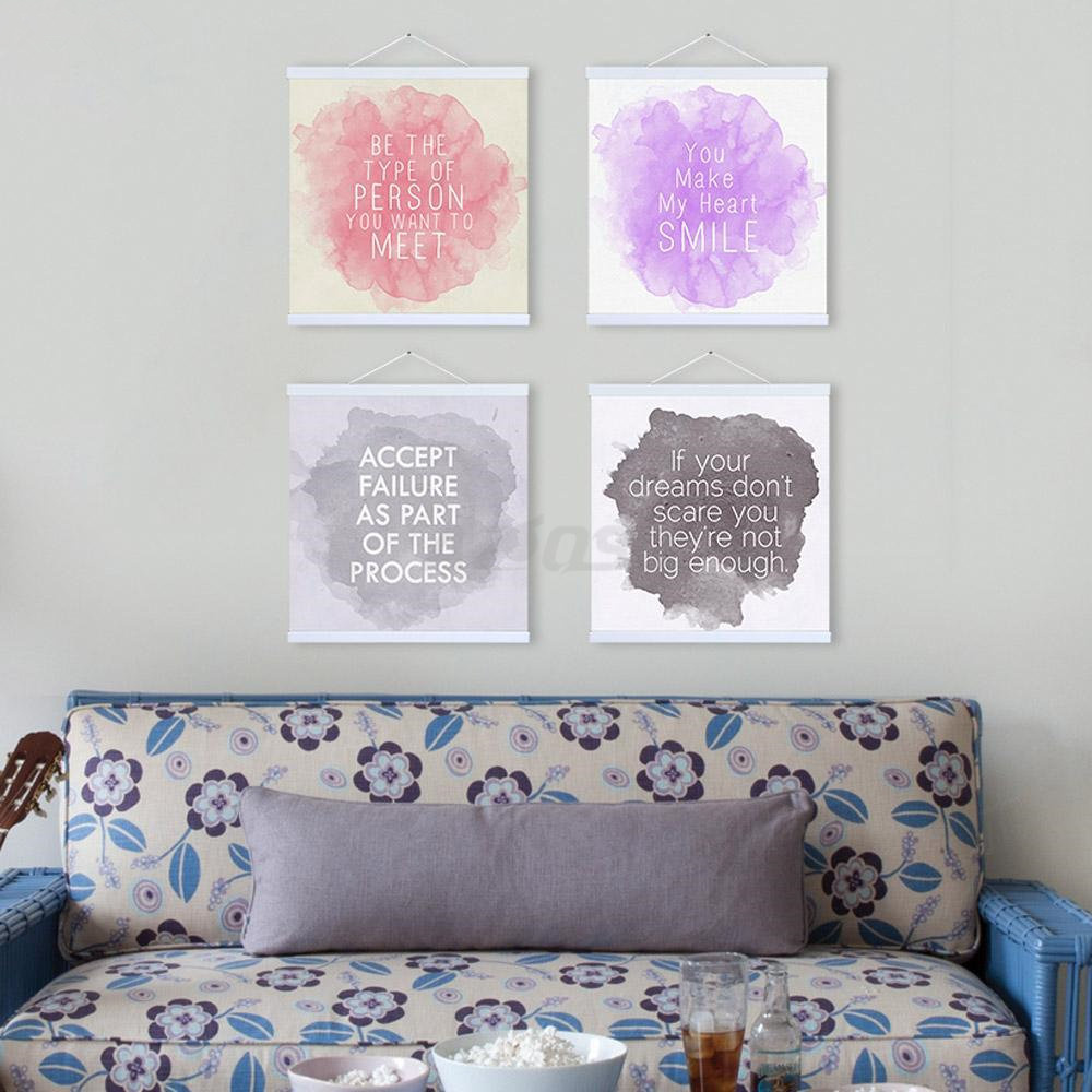 Art Print Poster Watercolor Minimalist Inspirational Quotations Canvas Painting On Wall Bedroom